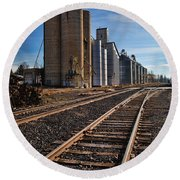 Spangle Grain Elevator Color Round Beach Towel