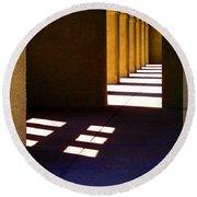 Spanish Arches Light Shadow Round Beach Towel