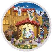 Spanish Nativity Round Beach Towel