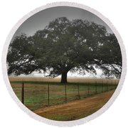 Round Beach Towel featuring the photograph Spanish Oak I by Lanita Williams
