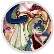 Spanish Rose Round Beach Towel