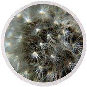 Round Beach Towel featuring the photograph Sparkler - Closeup by Ramabhadran Thirupattur