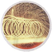 Sparks Round Beach Towel by Dan Sproul