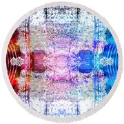 Speakers 3 Round Beach Towel