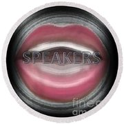 Speakers Round Beach Towel by Catherine Lott