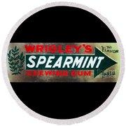 Spearmint Gum Sign Vintage Round Beach Towel