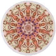 Round Beach Towel featuring the digital art Special Seven Mandala by Deborah Smith