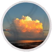 Spectacular Cloud In Sunset Sky Round Beach Towel
