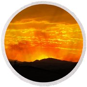 Round Beach Towel featuring the photograph Spectacular Nevada Sunset  by Phyllis Kaltenbach