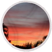 Spectacular Sky View Round Beach Towel