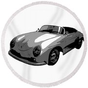 Round Beach Towel featuring the photograph Speedster by J Anthony