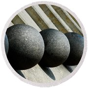 Spheres And Steps Round Beach Towel