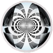 Round Beach Towel featuring the digital art Spheroid by GJ Blackman