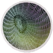 Spider Web Round Beach Towel by Heiko Koehrer-Wagner