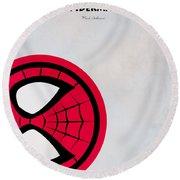 Spiderman 6 Round Beach Towel