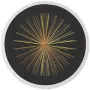 Round Beach Towel featuring the digital art Spikes... by Tim Fillingim