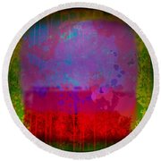 Spills And Drips Round Beach Towel