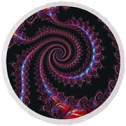 Spinal Twist Round Beach Towel