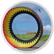 Spinning In A Circle Round Beach Towel by E Faithe Lester