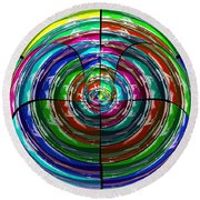 Spinning Top Round Beach Towel
