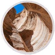 Spiral At Tent Rocks Round Beach Towel