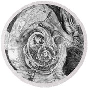 Round Beach Towel featuring the painting Spiral Rapture 2 by Otto Rapp