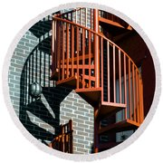 Spiral Stairs - Color Round Beach Towel