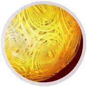 Spiral Sun By Jammer Round Beach Towel by First Star Art