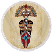 Spirit Chief Round Beach Towel