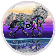 Spirit Horse Round Beach Towel
