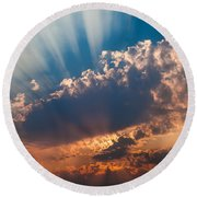Round Beach Towel featuring the photograph Spirit In The Sky by Jack Bell