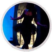 Spirit Of Dance 3 - A Backlighting Of A Ballet Dancer Round Beach Towel