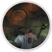 Spirit Of Detroit Tigers Round Beach Towel