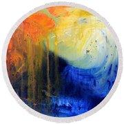 Spirit Of Life - Abstract 7 Round Beach Towel by Kume Bryant