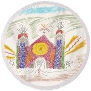 Spirit Of St Francis Round Beach Towel by Mark David Gerson
