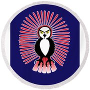 Spirit Owl 1 Round Beach Towel