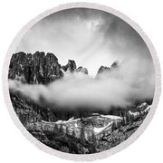 Spirits Of The Mountains Round Beach Towel