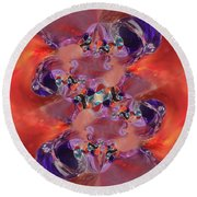 Spiritual Dna Round Beach Towel by Margie Chapman