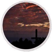 Round Beach Towel featuring the photograph Spiritual Retreat by Michael Gordon