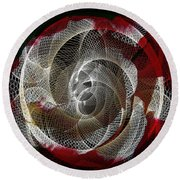 Round Beach Towel featuring the photograph Spiro by Athala Carole Bruckner