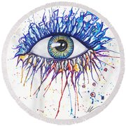 Splash Eye 1 Round Beach Towel