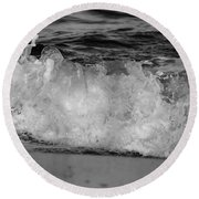 Splash Round Beach Towel by Mary Ward