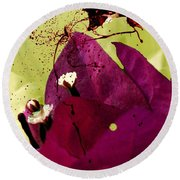 Splash Of Beauty Round Beach Towel by Irma BACKELANT GALLERIES