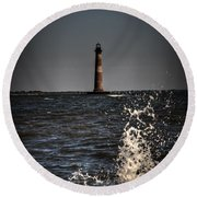 Splash Of Light Round Beach Towel