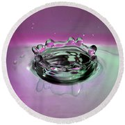 Splash Of Purple Round Beach Towel