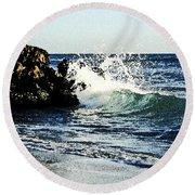 Splashing Wave Round Beach Towel