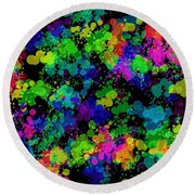 Round Beach Towel featuring the photograph Splatter by Mark Blauhoefer
