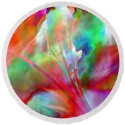 Splendor - Abstract Art Round Beach Towel