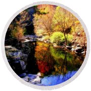 Splendor Of Autumn Round Beach Towel