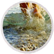 Splish Splash Round Beach Towel by Heiko Koehrer-Wagner
